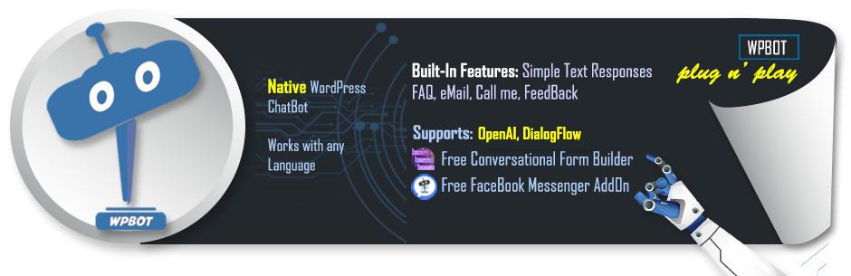 ChatBot for WordPress WPBot – WordPress plugin | WordPress org