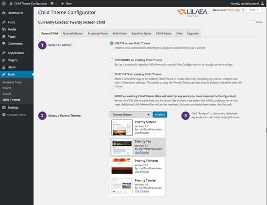 Child Theme Configurator Extension Wordpress Wordpress Org