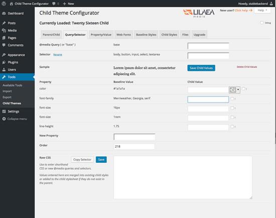 Child Theme Configurator | WordPress.org