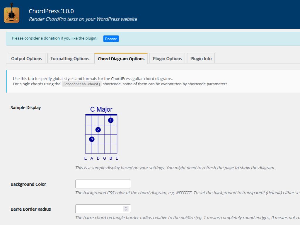 ChordPress Formatting Options