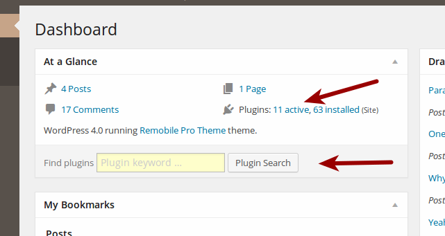 "<p>Cleaner Plugin Installer: Search field and plugins counter integration for ""At a Glance"" Dashboard widget. (<a href=""https://www.dropbox.com/s/wxlq2gjfjsrm2c3/screenshot-9.png?dl=0"">Click here for larger version of screenshot</a>)</p>"