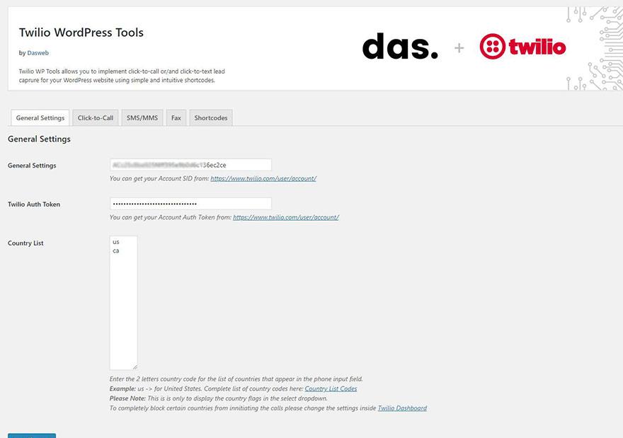 Click-to-Call for Twilio – WordPress plugin | WordPress org