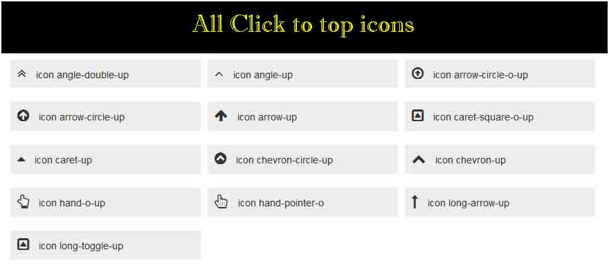 All scroll icon demo.