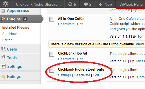 After the activation of plugin, you may click on 'settings' link of the plugin as shown in below picture.