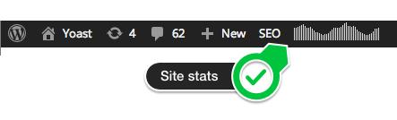 The stats indicator on the WordPress Toolbar.