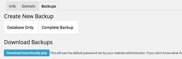 Client Dash – Backup Buddy