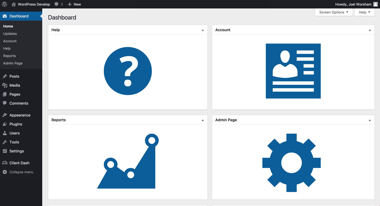 Client Dash – WordPress plugin | WordPress org