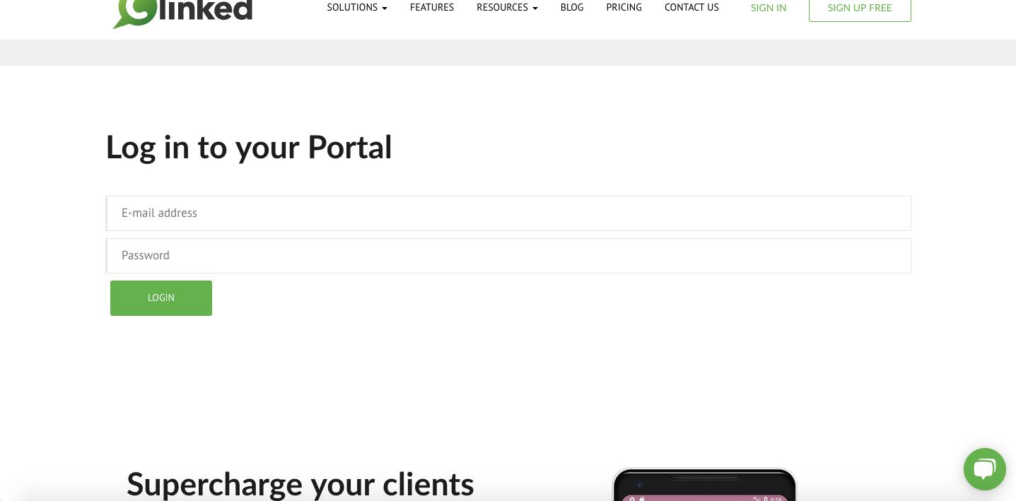 Generated login form