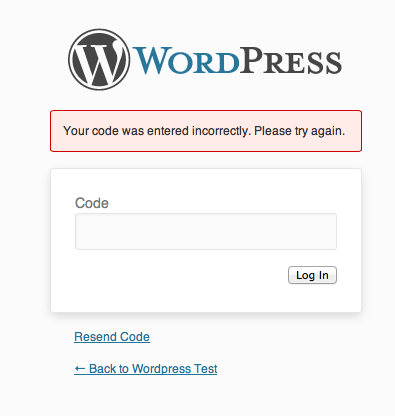 <p>Not allowing access if you have entered an incorrect code</p>