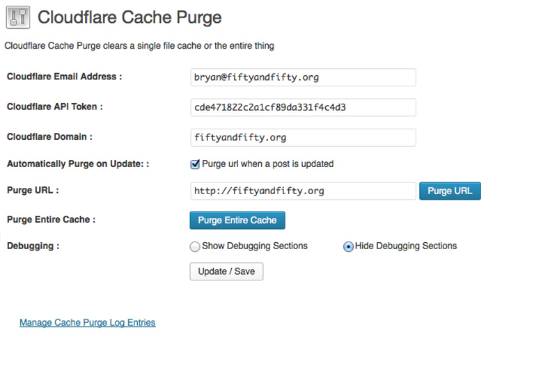 cloudflare-cache-purge screenshot 1