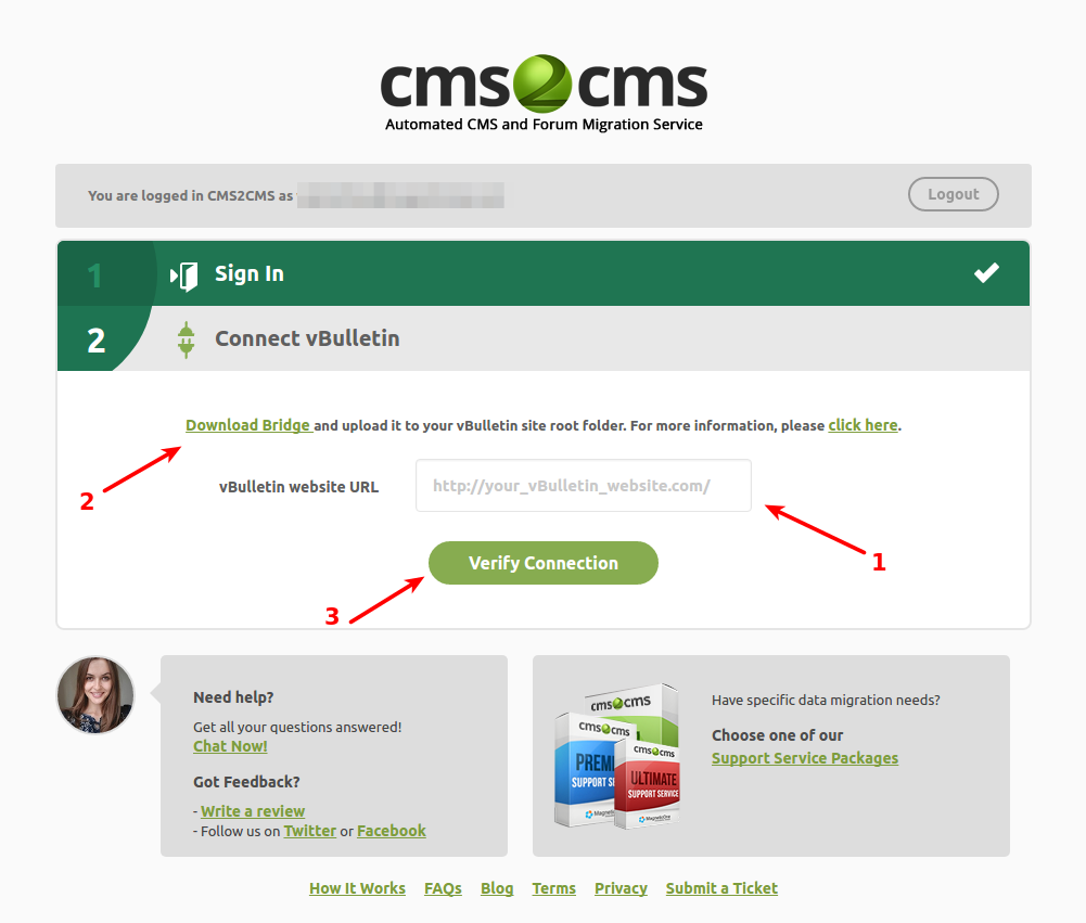 cms2cms-automated-vbulletin-to-bbpress-migrator screenshot 2