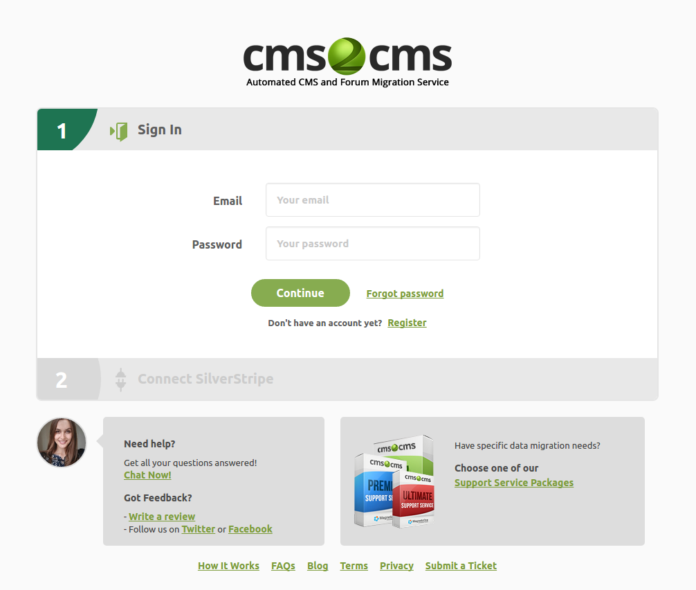 cms2cms-silverstripe-to-wp-migration screenshot 1