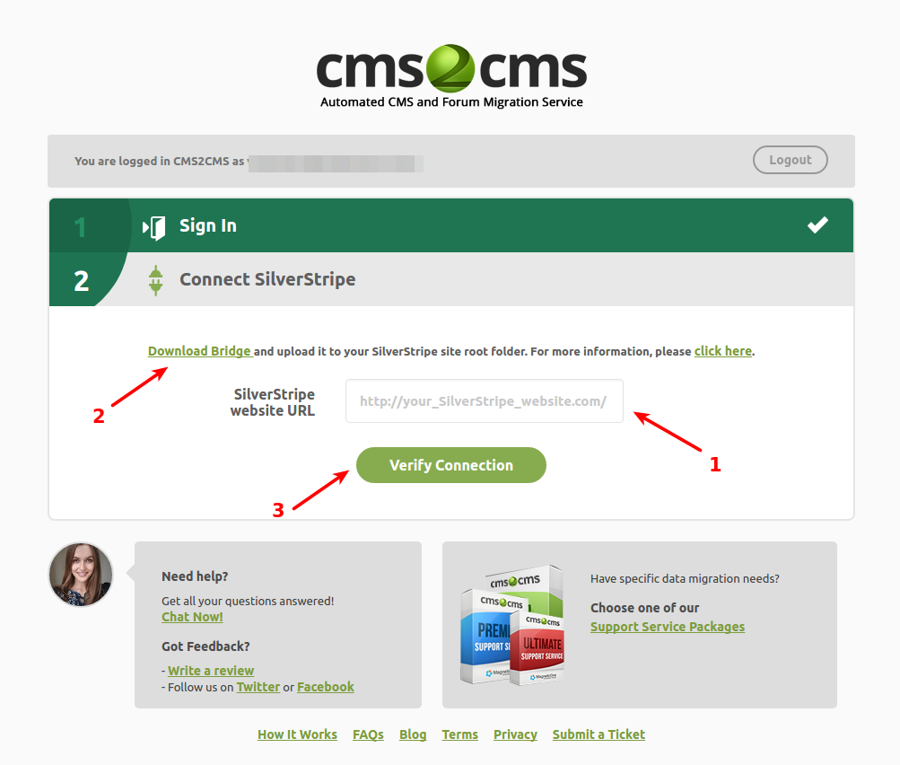 cms2cms-silverstripe-to-wp-migration screenshot 2
