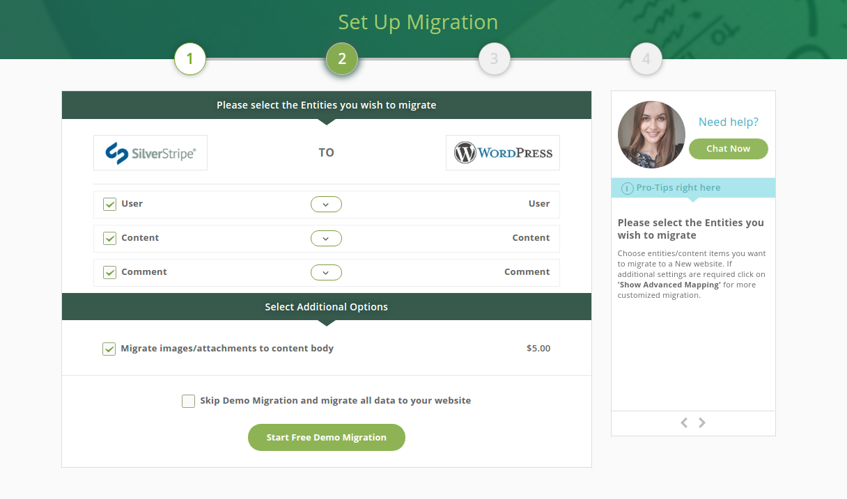 cms2cms-silverstripe-to-wp-migration screenshot 3