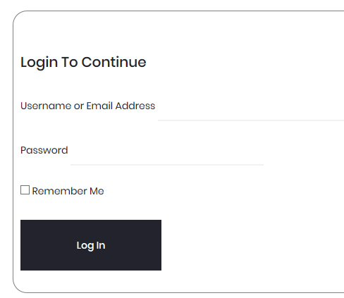 Prompt for Wordpress login