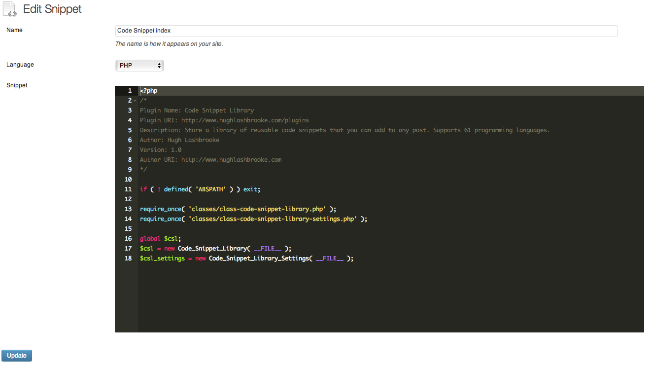 code-snippet-library screenshot 2