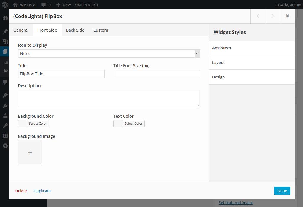 Using with SiteOrigin panels builder