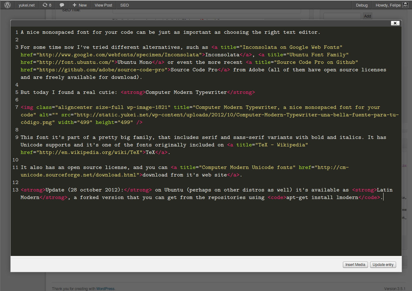 codemirror-for-post-editor screenshot 2