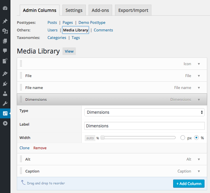 Admin Columns – WordPress plugin | WordPress org
