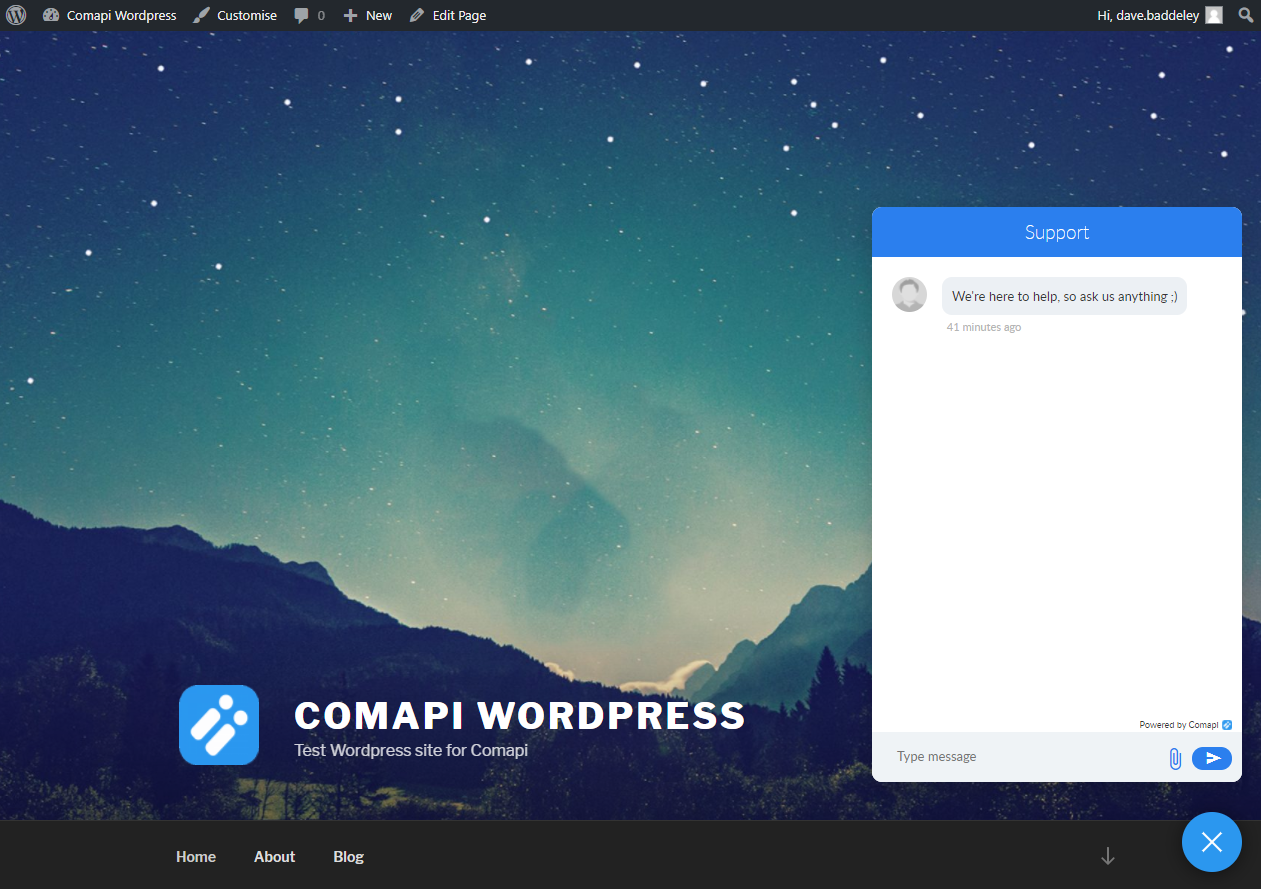 Comapi Webchat Plugin