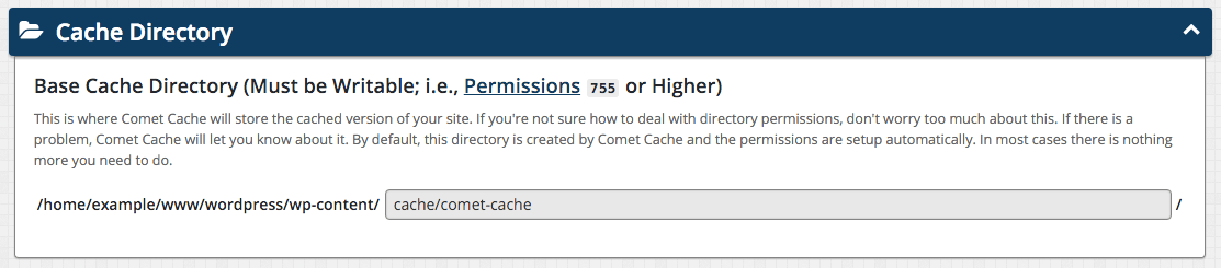 Comet Cache Screenshot
