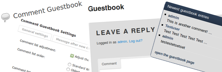 Comment Guestbook WordPress Plugins