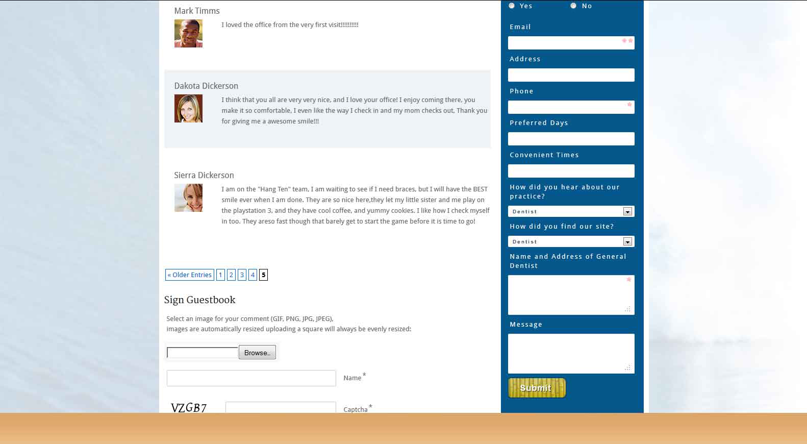 Screenshot of comments with images being used as Gravatars.