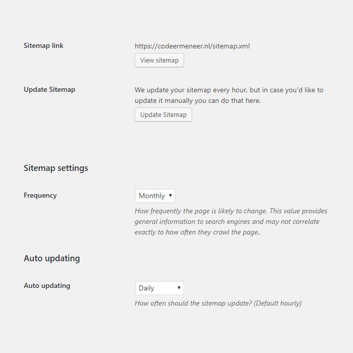 Sitemap dashboard