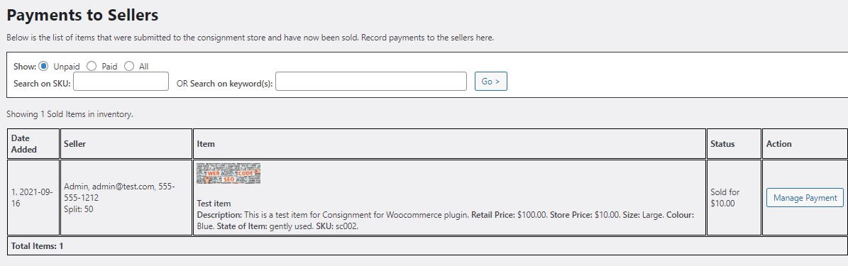 Consignment Store For WooCommerce