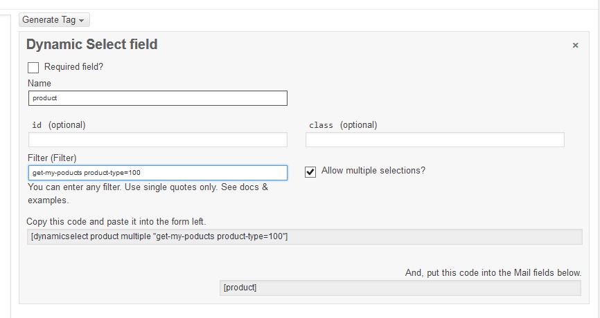 Dynamic Select for Contact Form 7 — WordPress Plugins