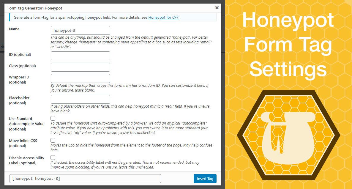 Honeypot CF7 Form Tag Settings