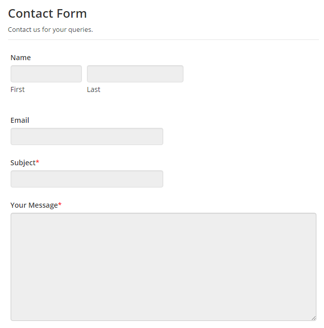 Contact Form Style Manager.
