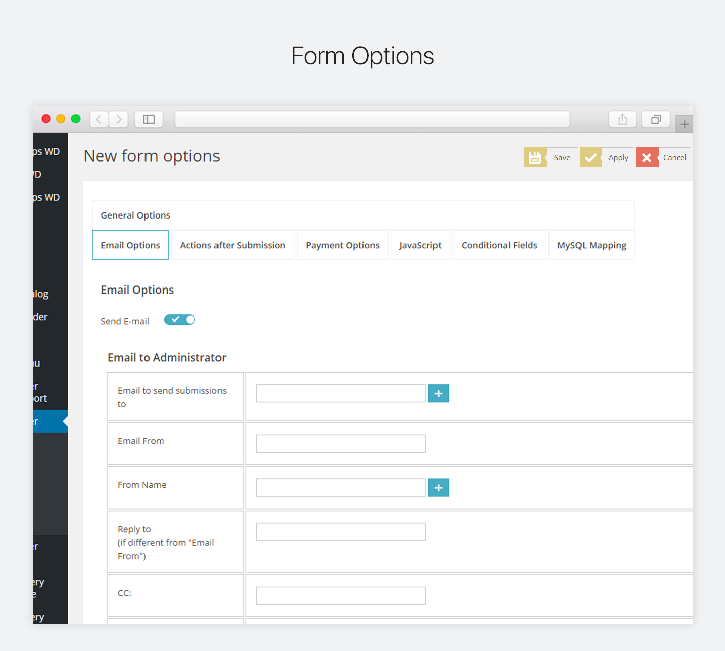Contact Form by WD – responsive drag & drop contact form builder