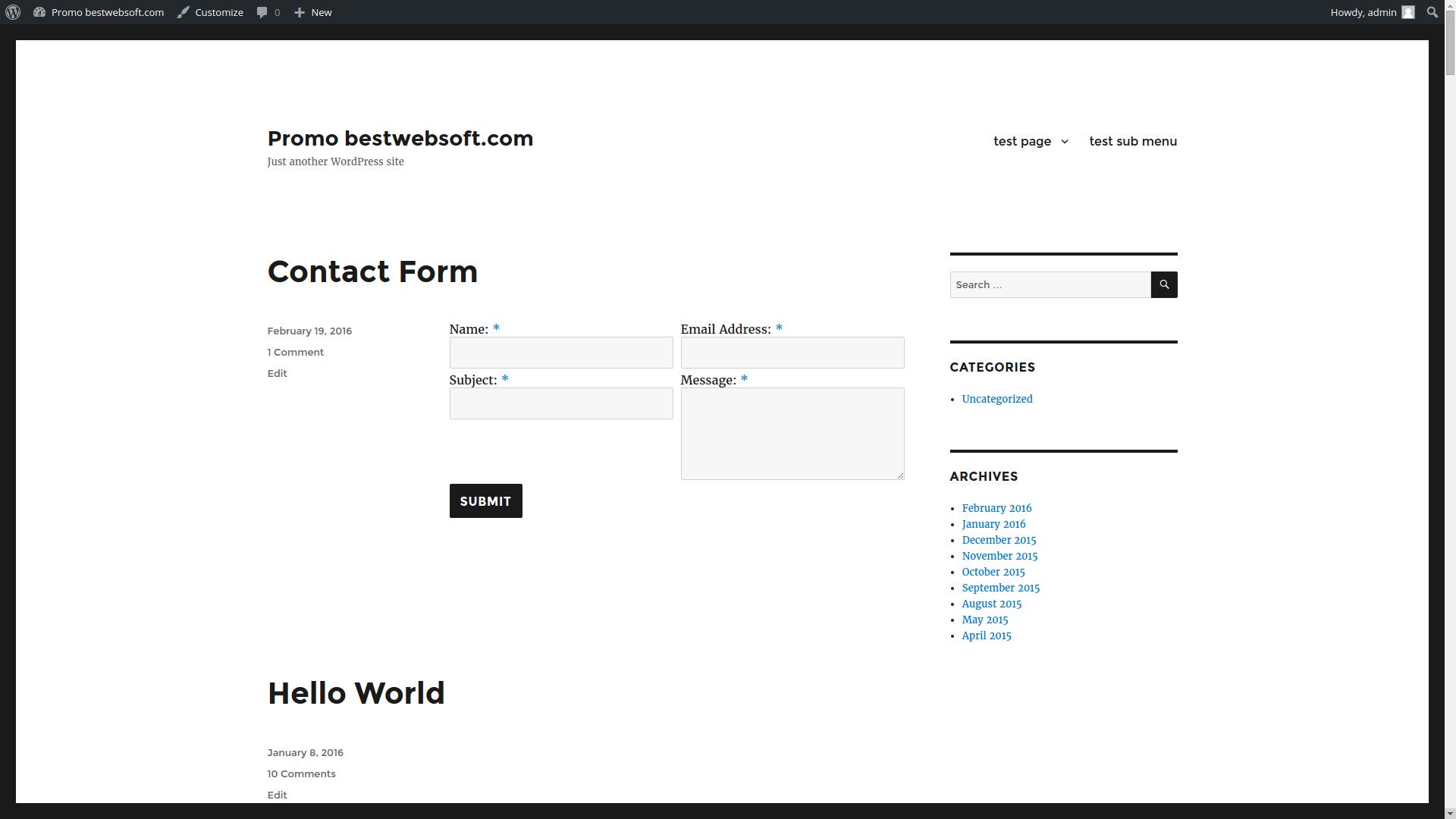 contact form by bestwebsoft \u2013 wordpress plugin wordpress orgcontact form displaying with 2 columns