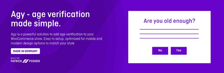 Agy – Age verification for WooCommerce