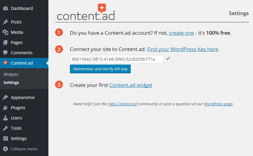 <p><strong>Easy signup and integration without leaving your WordPress blog.</strong></p>