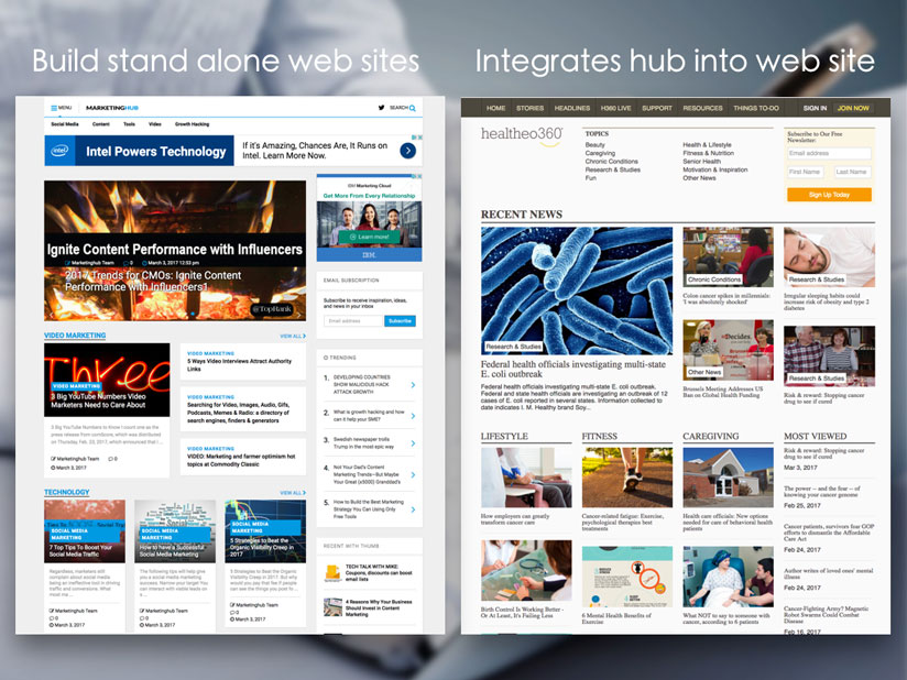 Use the plugin to create standalone content-hubs or enhance your existing website.