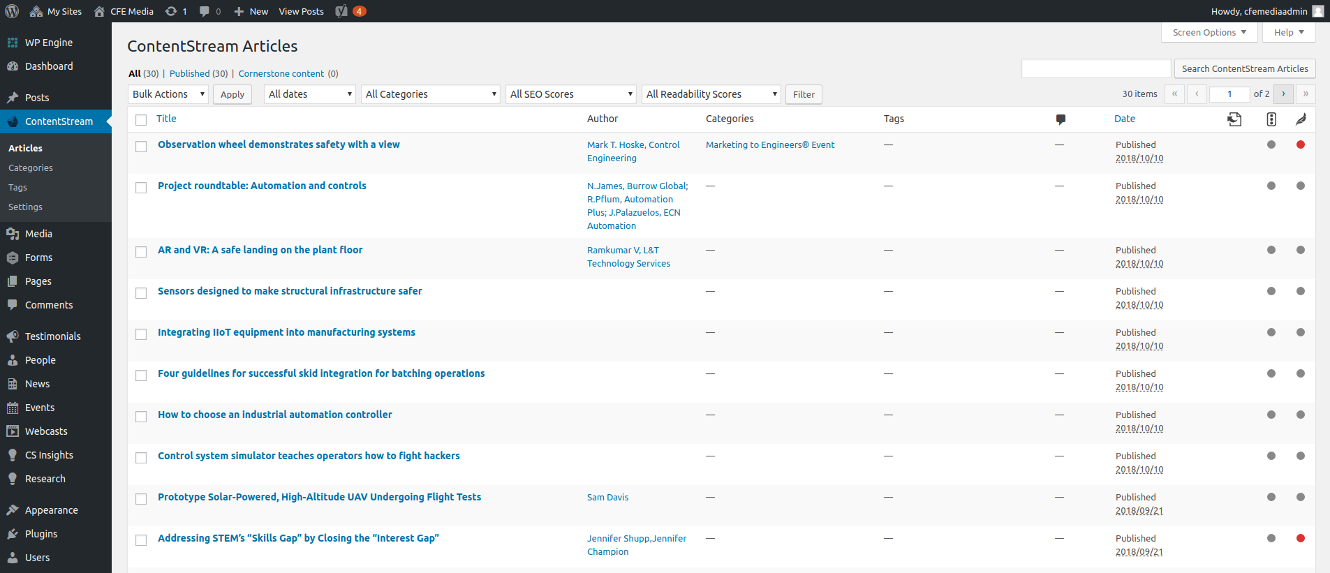 Viewing the articles downloaded by the plugin