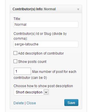 Show the Admin Widget 'Contributors Info' setting