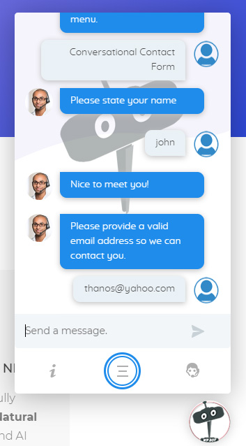 Conversational Forms for ChatBot