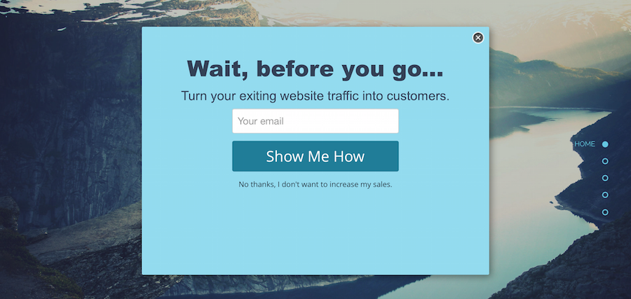 Popup Modal Example
