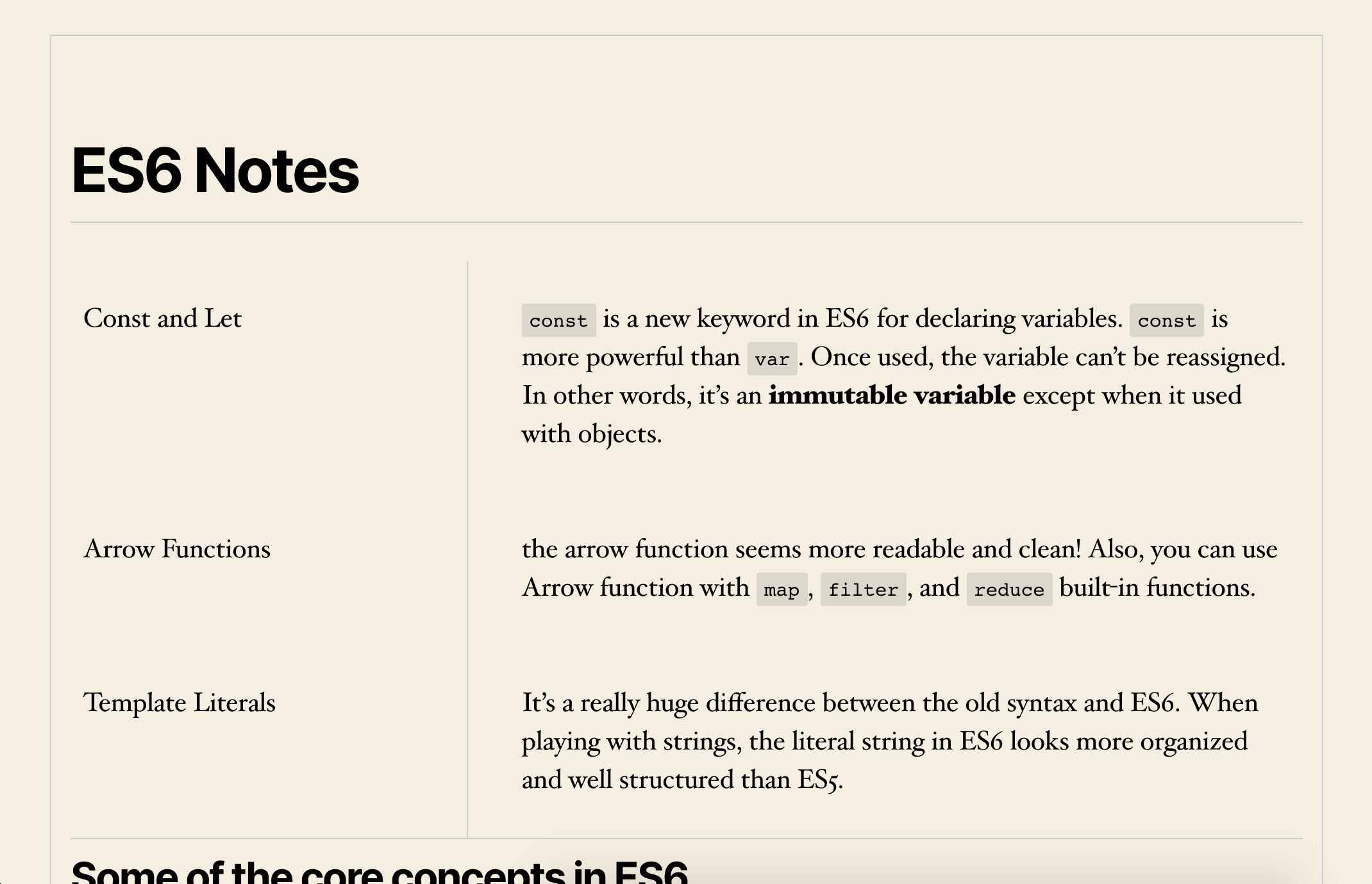 The Cornell Note Block on the frontend (inheriting the theme styles)