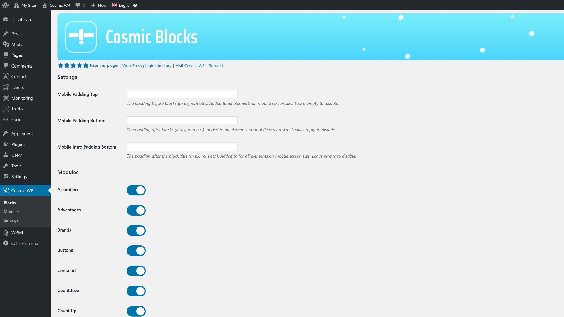 宇宙块(40)内容编辑器块集合