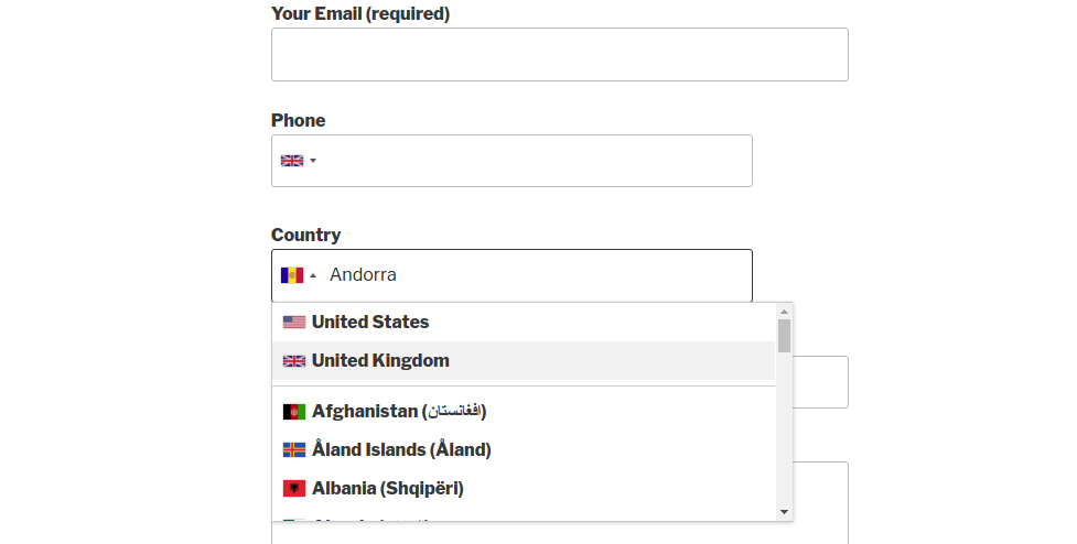Country & Phone Field Contact Form 7 – WordPress plugin