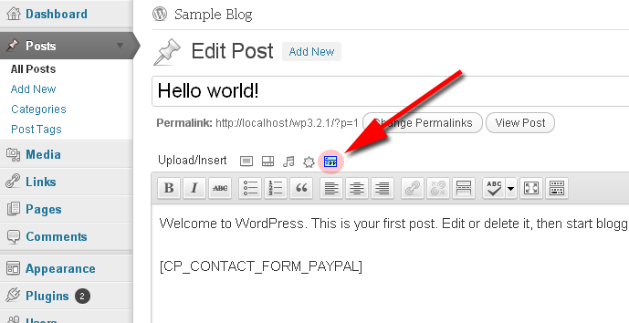 cp contact form with paypal wordpress org
