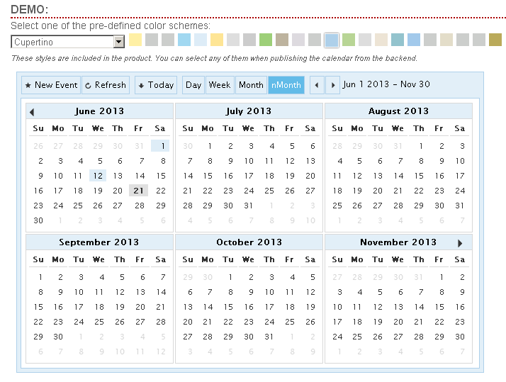 cp-multi-view-calendar screenshot 1