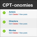 CPT-onomies: Using Custom Post Types as Taxonomies logo