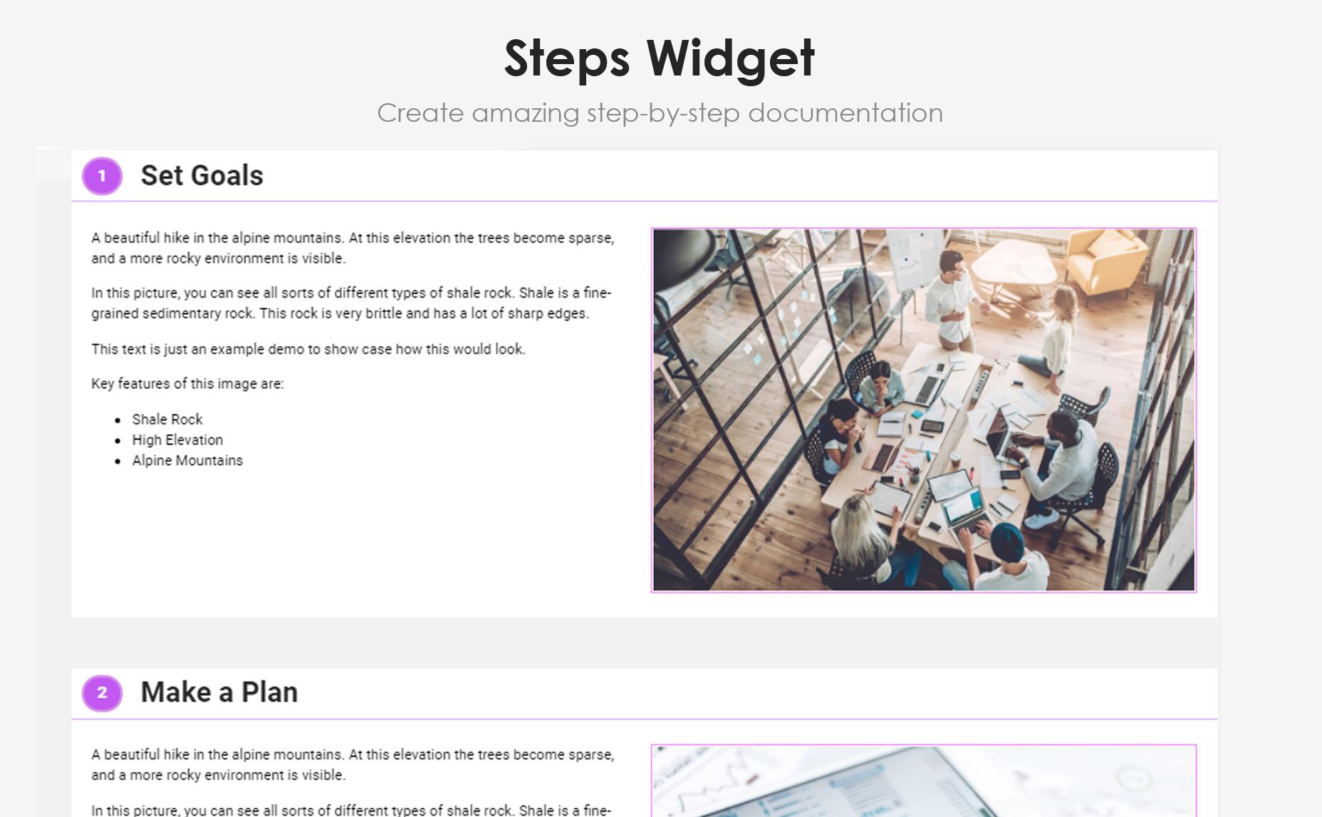 <p>Knowledge Base widget</p>