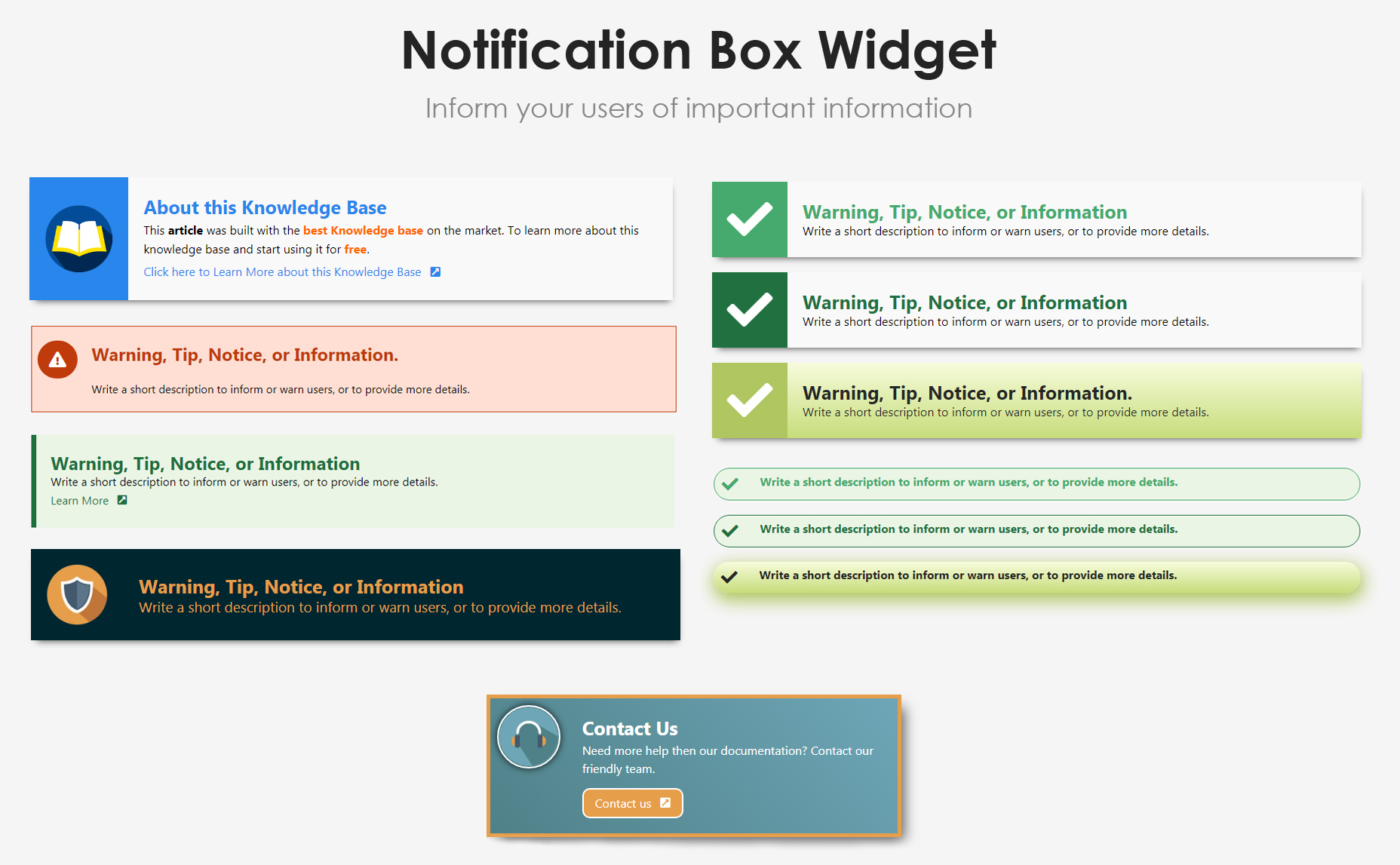 <p>Advanced List Widget examples</p>