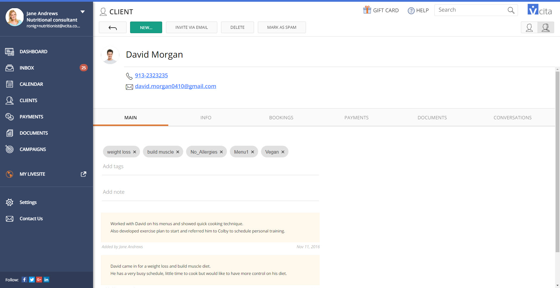 <strong>Customize Client records</strong> - Customize your client records, and Add unlimited number of custom fields on every client record on your CRM.